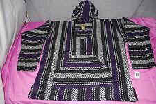 BAJA JOE Mexican Unisex Hoodie Poncho / Jacket (Assorted Colors & Sizes) (S4718)