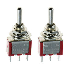 2 X on/off/on Mini Miniatura interruptor de palanca coche DASH SPDT