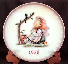 M J Hummel Goebel Hum 271 1978 8th Annual Collector's Plate Happy Past Time