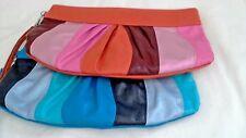 "Multi Stripe Clutch Bags by Apt 9, Orange, Blue, choice of colors, 12"" x 7"""