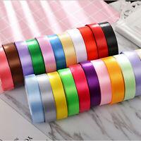 25YD Satin Ribbon 20mm Multi Craft Wedding Supplies Flower Fabric Party Decor HY