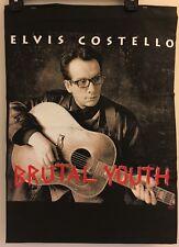 Elvis Costello Brutal Youth TOUR PROMO SAMPLE T-Shirt 2-Sided VINTAGE VTG HTF 94
