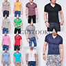 Urban Basic Mens Slim Fit Short Sleeve Cotton Vneck Tee Tshirt XS S M L Guylook