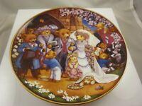 Teddy Bear wedding Franklin Mint by Carol Lawson collector plate
