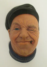 Vintage BOSSONS Heads CHALKWARE Wall Display - collection of 6