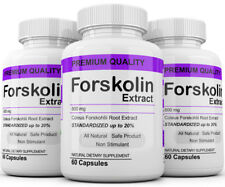 3 Maximum Strength 100% Pure Forskolin 800mg Rapid Results! Forskolin Extract