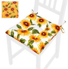 Cuscino sedia girasoli morbido coprisedia laccetti fissaggio universale lavabile