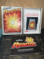 Atari 2600 Reactor game with box and instructions 1982.Parker Brothers