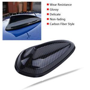 Carbon Fiber Style Car Shark Fin Antenna FM/AM Signal Aerials Mast   Universal