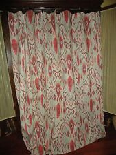 THRESHOLD IKAT SOUTHWESTERN BROWN TAUPE RED FABRIC SHOWER CURTAIN 72 X 70
