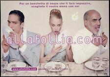 cartolina pubblicitaria PROMOCARD n.1650 ALLAFOLLIA.COM MATRIMONIO MILANO