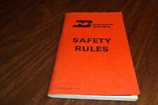 JUNE 1973 BURLINGTON NORTHERN SAFETY RULES
