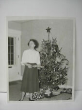 Old 1940s Real 8X10 Christmas Tree Photograph