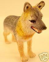Dollhouse Miniature Gray Fox  2'' Tall