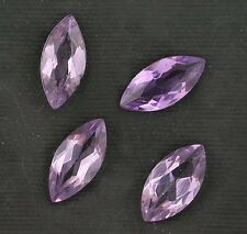 TWO 8x4 Marquise Brazilian Amethyst Gem Stone Gemstone 8mm x 4mm Natural