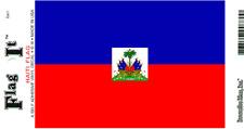 "HAITI FLAG SELF ADHESIVE VINYL DECAL, 3.5"" X 5"""