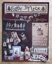 Folksy St Nick cross stitch patterns charts counted craft leaflet Christmas