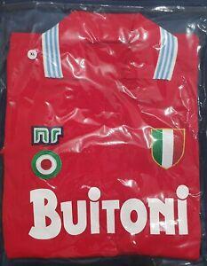 Maglia Napoli Diego Armando Maradona 87-88 Scudetto Coppa Italia Taglia XL NR...