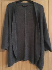 Dorothy Perkins Grey Sequined Shimmer Knitted Kimono, 3/4 Sleeves, Sz Large, VGC