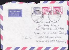 Germany - 1979 - Group of 3 Castle Stamps on Airmail Cover to the US Town Cancel