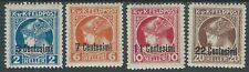 1918 OCCUPAZIONE AUSTRIACA GIORNALI 4 VALORI MH * - RA17-3