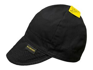 US WELDER Welding Caps Welders Hat Solid Black Reversible by Comeaux Supply
