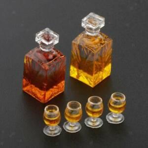Dollhouse accessories  miniature model props simulation wine bottle combinat EW