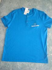 LACOSTE ROYAL BLUE 2 BUTTON T-SHIRT SIZE M/5