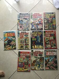 Marvel Collectors Items Set.  Total Of 10