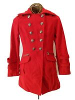 Guess Los Angeles Women's Coat Jacket Peacoat Wool Double Breasted Lined Size S