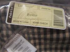 Longaberger Foyer Basket Khaki Check Liner New
