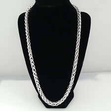 Shinny Charms Men's 316L Stainless Steel Foxtail  Chain Link Necklace 23.6""