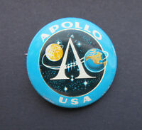 SOYUZ APOLLO 1975 Space Spacecraft Vintage Pin Badge Russian Soviet USSR