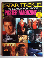 1984 STAR TREK III Search for Spock  Movie Poster Magazine- 10 Fold Out Posters