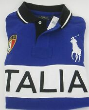 "* Nuovo + OVP: POLO BY RALPH LAUREN BIG PONY ""ITALIA"" Rugby Polo, taglia L *"