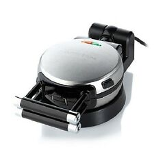 Curtis Stone Black Rotating Non Stick Waffle Baker With Ready Light  CSWB1000