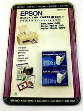 Epson 2 Black Cartridges Stylus Color 440/640/660/670 Photo 750/1200 S020187-SV