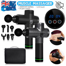 Professional LCD Electric Massage Gun 6 Heads Vibration Muscle Therapy Massager