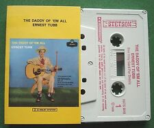 Ernest Tubb The Daddy of 'em All Stetson Label HATC 3015 Cassette Tape - TESTED