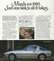 1980 MAZDA Brochure / Pamphlet: 626,RX-7, GLC, PICKUP TRUCK, Pick Up, RX-7,B2000