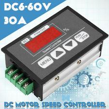 DC Motor Speed Governor 6-60V PWM Module 30A Digital Controller Swit BPJSH