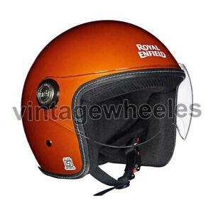 For Royal Enfield 650 Twin Helmet Gloss Crush Orange