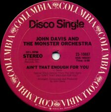 JOHN DAVIS / MONSTER ORCHESTRA Ain't That Enough For You (1978 US 2 Track 12inch
