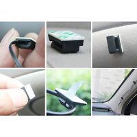 40pcs Black Plastic Car Drop Adhesive Clamp Wire Cord Clip Cable Holder Tie Clip