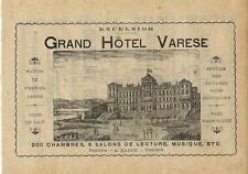 Stampa antica pubblicità GRAND HOTEL VARESE Villa Recalcati 1889 Antique print