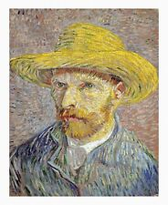 VAN GOGH Self-Portrait with Straw Hat UNSTRECHED UNFRAMED CANVAS