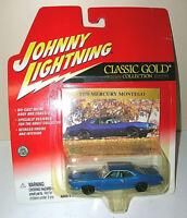 "Johnny Lightning ""CLASSIC GOLD"" 1970 MERCURY MONTEGO - Die Cast Car -1:64 - HOOD"