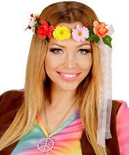 Amy Hippie fascia-capelli con fiori NUOVO - Carnevale Cappello berretto