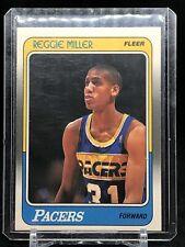 1988-89 Fleer #57 REGGIE MILLER Rookie RC Pacers HOF