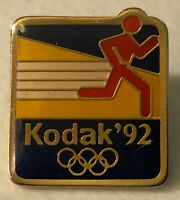 Vintage 1992 Eastman Kodak Company Olympic Sponsor Lapel Hat Pin Pinback ~ Photo